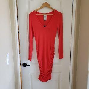 NWT BCBG Maxazria Medium Red Long Sleeve Dress